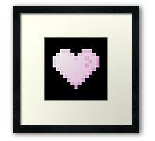 Pixel Heart Store (black background) Framed Print