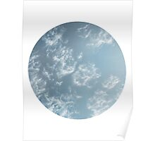 Cloudy Winter Sky Poster