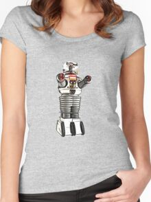 Lost in Space Robot B-9 Women's Fitted Scoop T-Shirt