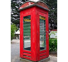 Old Red Phone Box Photographic Print