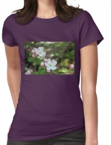 Blushing Apple Blossoms Womens Fitted T-Shirt
