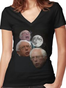 Three Bernie Moon Women's Fitted V-Neck T-Shirt