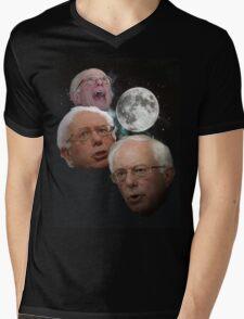 Three Bernie Moon Mens V-Neck T-Shirt