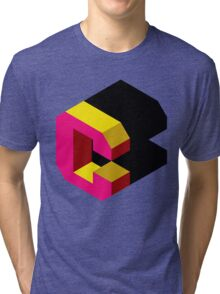 Letter C Isometric Graphic Tri-blend T-Shirt