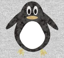 Geometric Penguin One Piece - Long Sleeve