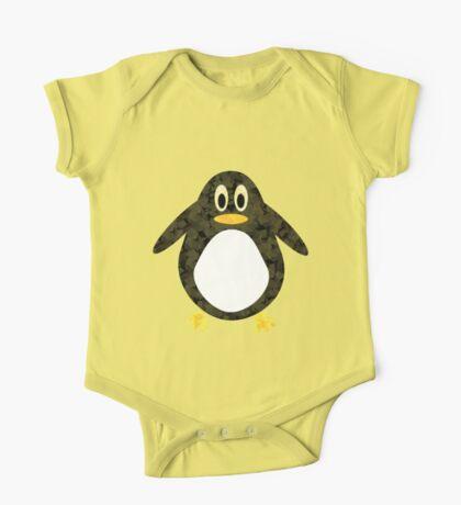 Geometric Penguin One Piece - Short Sleeve
