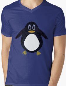 Geometric Penguin Mens V-Neck T-Shirt