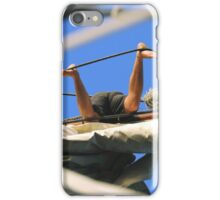 Legs akimbo aloft iPhone Case/Skin