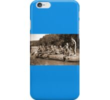 German Soldiers in a Raft during WW2 iPhone Case/Skin