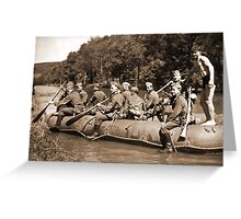 German Soldiers in a Raft during WW2 Greeting Card