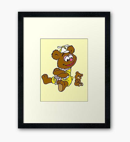 Muppet Babies - Fozzie Bear & Teddy - Arms Crossed Framed Print
