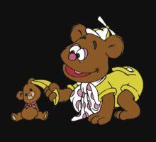 Muppet Babies - Fozzie Bear & Teddy - Banana Telephone One Piece - Long Sleeve