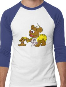 Muppet Babies - Fozzie Bear & Teddy - Banana Telephone Men's Baseball ¾ T-Shirt