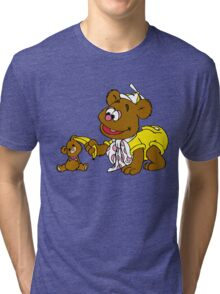 Muppet Babies - Fozzie Bear & Teddy - Banana Telephone Tri-blend T-Shirt