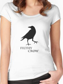 Filthy Crow Women's Fitted Scoop T-Shirt