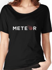 Meteor Black Women's Relaxed Fit T-Shirt