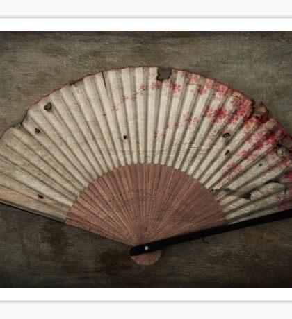 Japanese Folding Blossom Fan Sticker