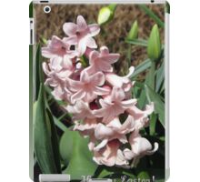 Easter Card with Pretty-in-Pink Hyacinth iPad Case/Skin
