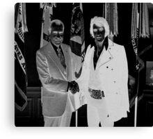 Richard Nixon & Elvis Presley Canvas Print