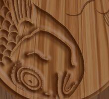 Bubba Zen Woodcarving T Sticker
