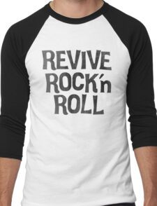 Vintage Retro Revive Rock n' Roll Design Men's Baseball ¾ T-Shirt