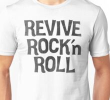 Vintage Retro Revive Rock n' Roll Design Unisex T-Shirt