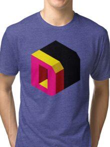 Letter D Isometric Graphic Tri-blend T-Shirt
