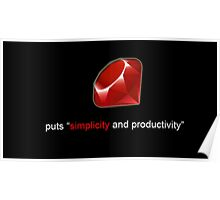 Ruby Simplicity Poster
