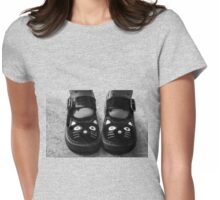 Kitty Kat Feet Womens Fitted T-Shirt