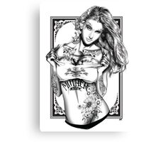 Tattoo Siren - Poison Ivy Canvas Print