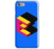 Letter E Isometric Graphic iPhone Case/Skin