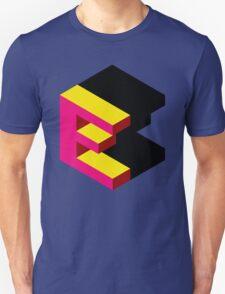 Letter E Isometric Graphic Unisex T-Shirt