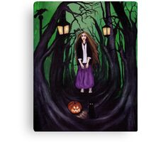 LOST IN A HAUNTED FOREST Canvas Print