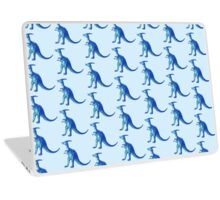 blue alien parasaurolophus Laptop Skin