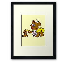 Muppet Babies - Fozzie Bear & Teddy - Banana Telephone Framed Print