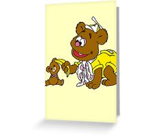 Muppet Babies - Fozzie Bear & Teddy - Banana Telephone Greeting Card