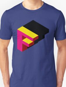 Letter F Isometric Graphic Unisex T-Shirt