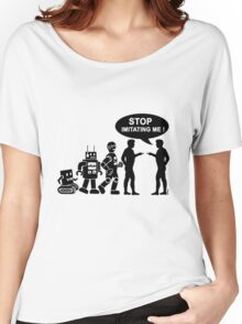 Funny robot evolution Women's Relaxed Fit T-Shirt
