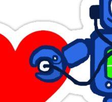 I heart robot, robot listen to heart Sticker