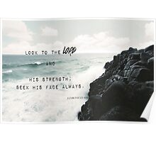 Sea scripture 1 Chronicles 16:11 Poster
