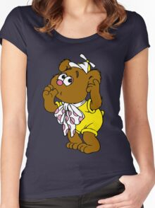 Muppet Babies - Fozzie Bear - Sucking Thumb Women's Fitted Scoop T-Shirt