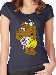 Muppet Babies - Fozzie Bear - Sucking Thumb Women's Fitted Scoop T-Shirt