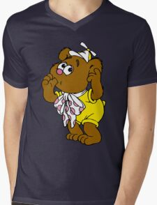 Muppet Babies - Fozzie Bear - Sucking Thumb Mens V-Neck T-Shirt