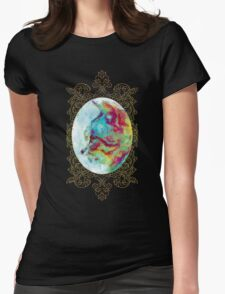 Vintage Oil Paint Cat Womens Fitted T-Shirt
