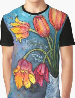 Watercolor Tulips Graphic T-Shirt