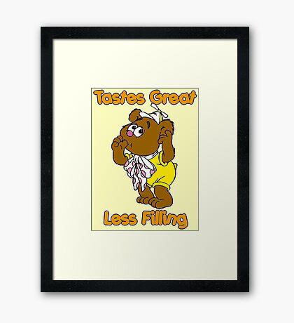 Muppet Babies - Fozzie Bear - Tastes Great - Sucking Thumb Framed Print