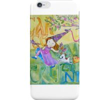 Sugar & Spice Princess Watercolor for Kids iPhone Case/Skin