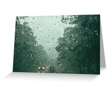 Rainy Highway Greeting Card