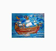 Ahoy! Pirate Ship Watercolor for Kids Unisex T-Shirt