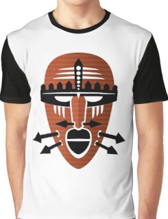 Cool Orange Tribal Design Graphic T-Shirt